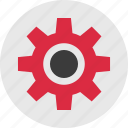 circle, gear, settings, setup, work, working icon
