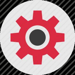 circle, gear, settings, setup, work, working icon