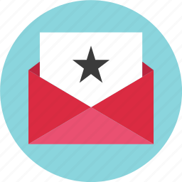 email, envelope, favorite, mail, special, star icon