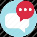 bubble, conversation, load, talk icon