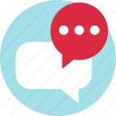 bubble, conversation, load, talk