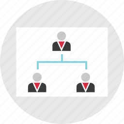 connected, group, profile, team, users, work icon