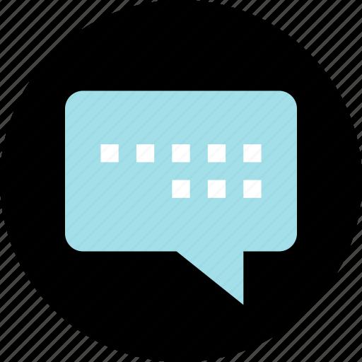 bubble, conversation, sms, text icon