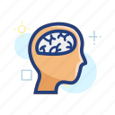 brain, creative, creativity, head, idea, think