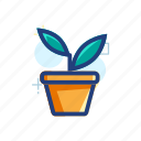 eco, green, growth, leaf, nature, plant, pot