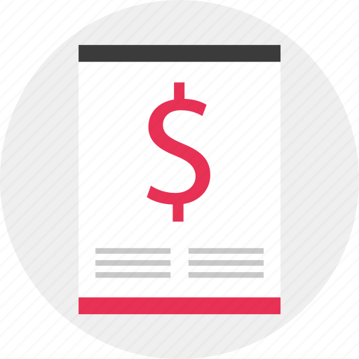 Blog, dollar, page, sign icon - Download on Iconfinder