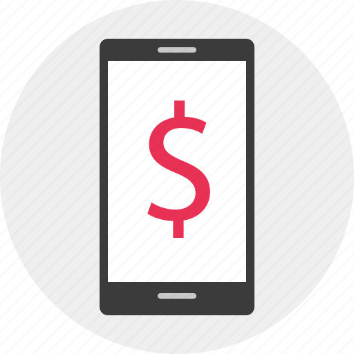 business, dollar, mobile icon