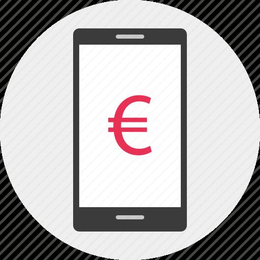 business, dollar, euro, mobile icon