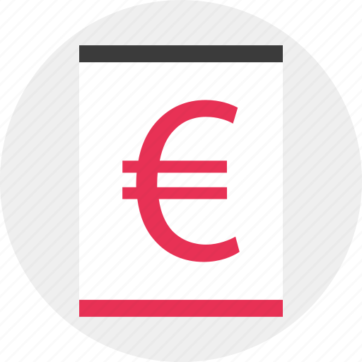 business, euro, sign, website icon