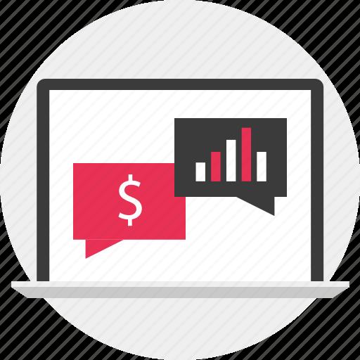 chat, data, money icon
