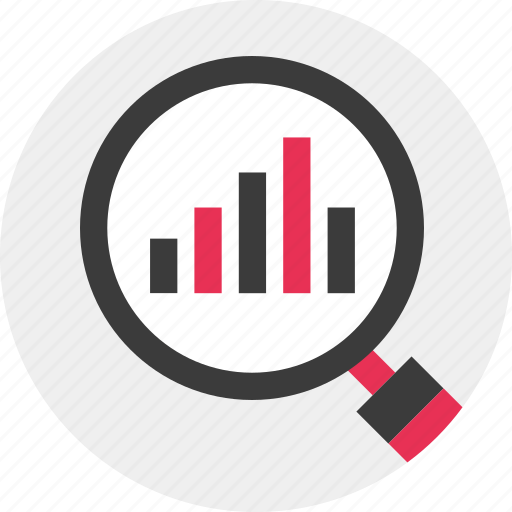 data, find, look, results icon