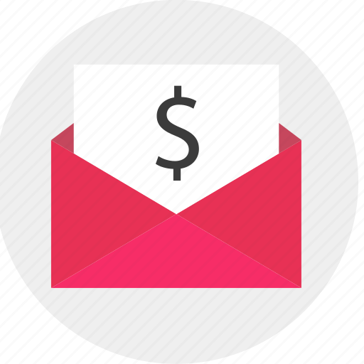dollar, email, envelope, sign icon