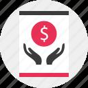 aquiring, growing, money icon
