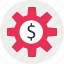 freelance, gear, job, working icon