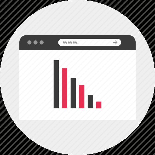 analytics, browser, data, graph, graphic, internet, online icon