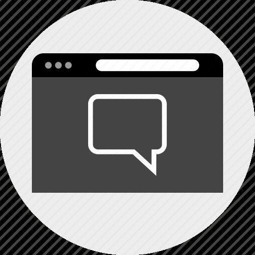 chat, conversation, talk, www icon