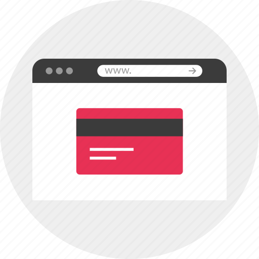 browser, business, card, cards, credit, offer, online icon