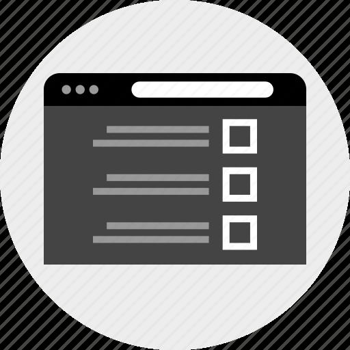 data, interface, list icon