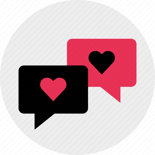 chat, love, messenger, talk icon