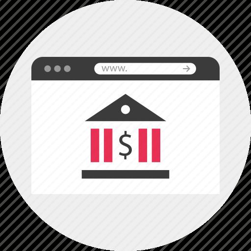 bank, browser, money, online, site, website, www icon