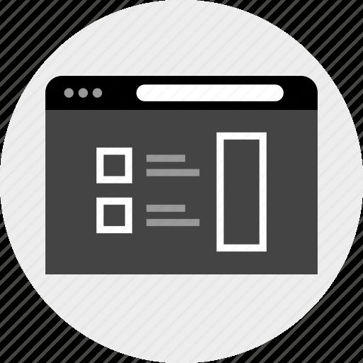 interface, list, mockup, user icon