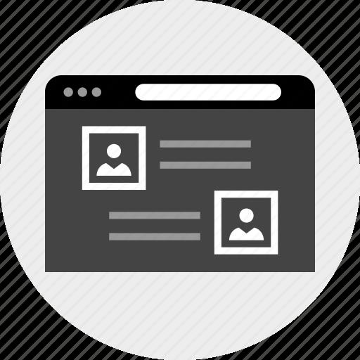 interface, mockup, user icon