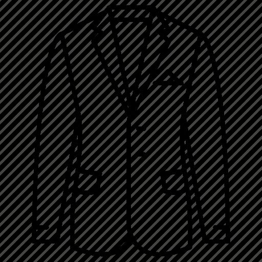 apparel, clothes, coat, fashion, jacket, men's, suit icon