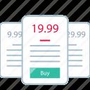 form, online, price icon