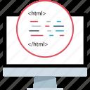 html, language, web icon