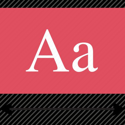 lettering, letters, measure icon