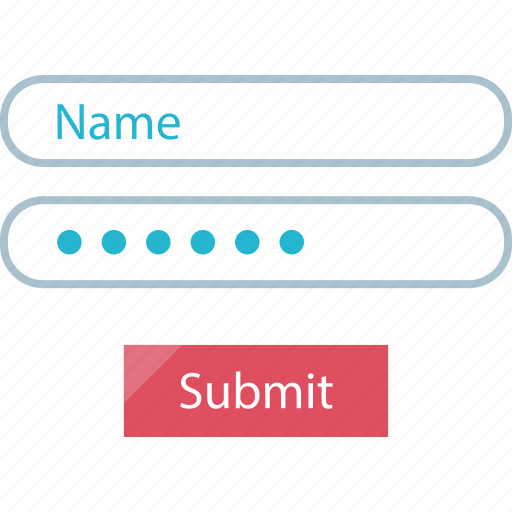 field, name, submit icon