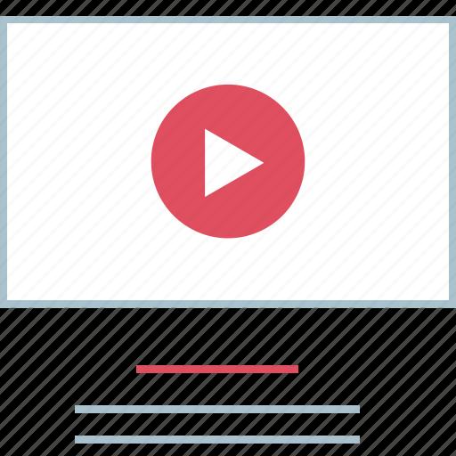 play, video, web icon