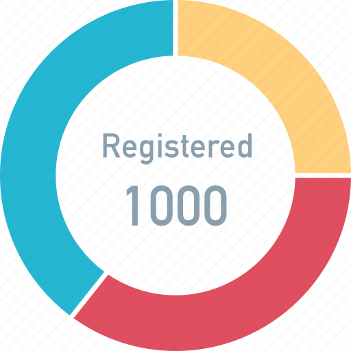 data, registered, users icon