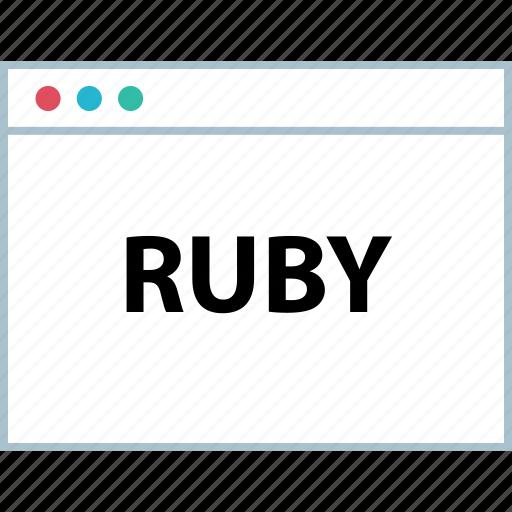 language, ruby, script icon