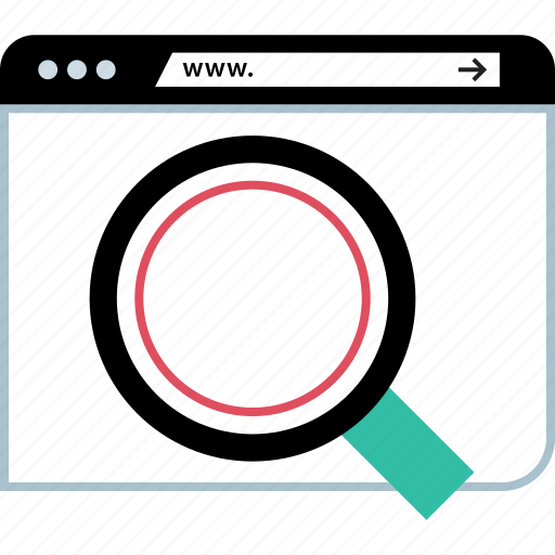 find, online, search icon