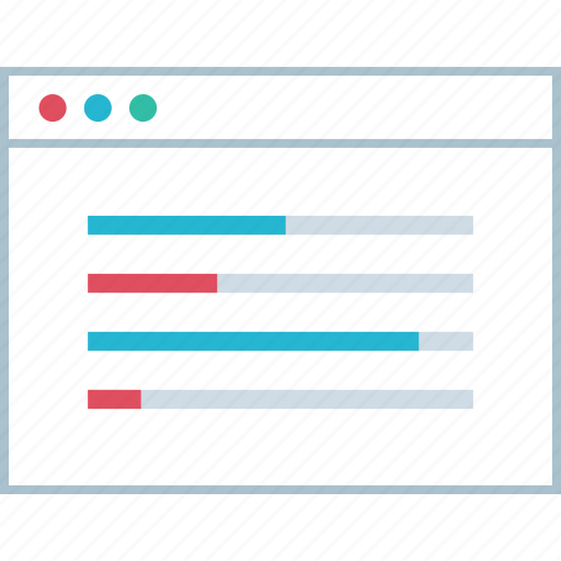 analytics, data, web icon