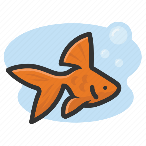 fish, goldfish, pet, swim icon