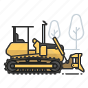 bulldozer, dozer, earth mover, tractor icon