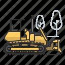 earth mover, bulldozer, dozer, tractor icon