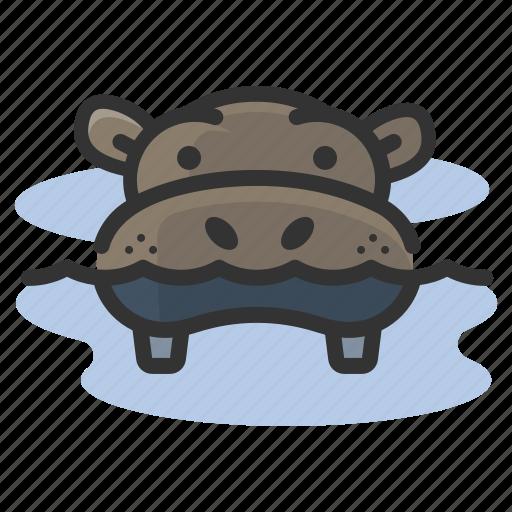 africa, hippo, hippopotamus, safari icon