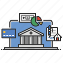 banking, commerce, finance, money, online icon