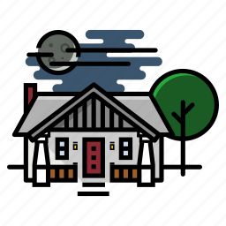 craftsman, home, house, real estate icon