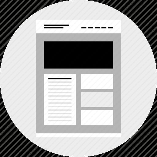 gallmockup, website, wireframe icon