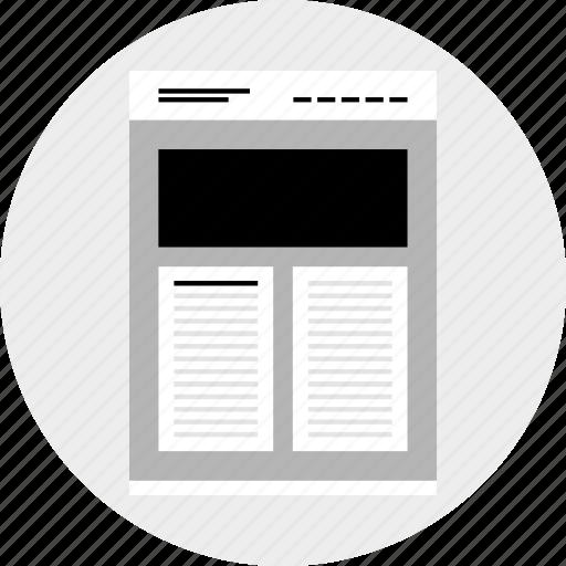 column, double, photo, website icon