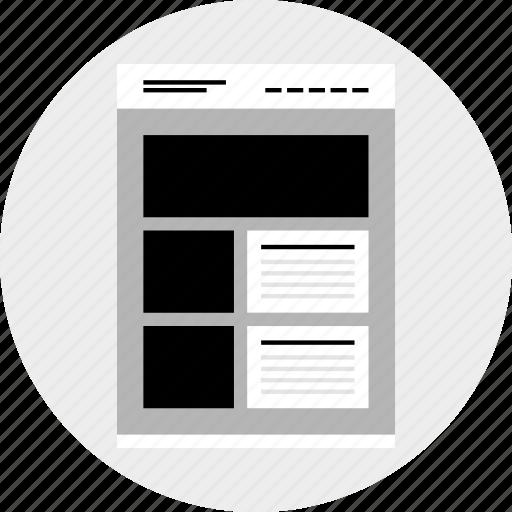 blog, mockup, post, wireframe icon