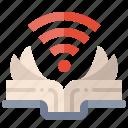 book, wifi, wireless, online, learning, study, knowledge