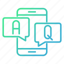 answer, conversation, knowledge and education, online, question icon