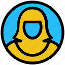 avatar, education, madam, picture, profile, student icon