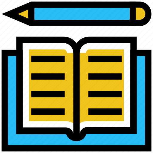 book, education, learning, pencil, school, study icon