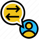 arrows, education, interface, student, user icon